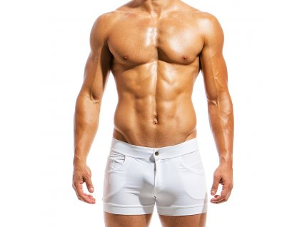 ms1831 white fr(2) modus vivendi swimwear basics line short