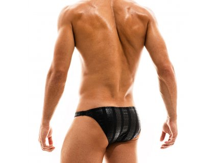 ES2011 black modus vivendi swimwear tyres line low cut brief 2