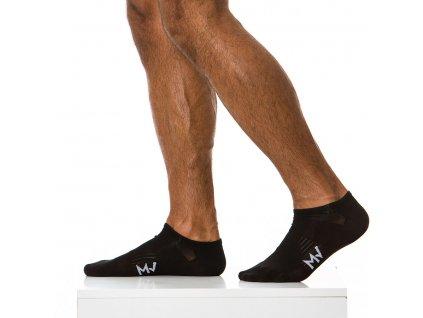XS1818 black modus vivendi accessories gay accessories line gym socks 1