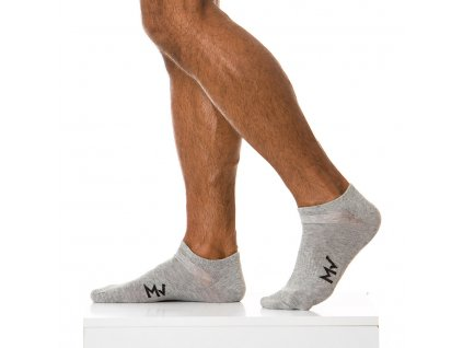 XS1818 grey modus vivendi accessories gay accessories line gym socks 1
