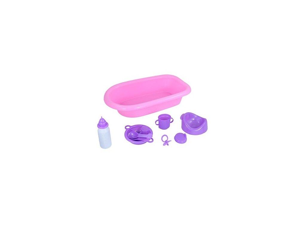 vana pro panenky s příslušenstvím růžová