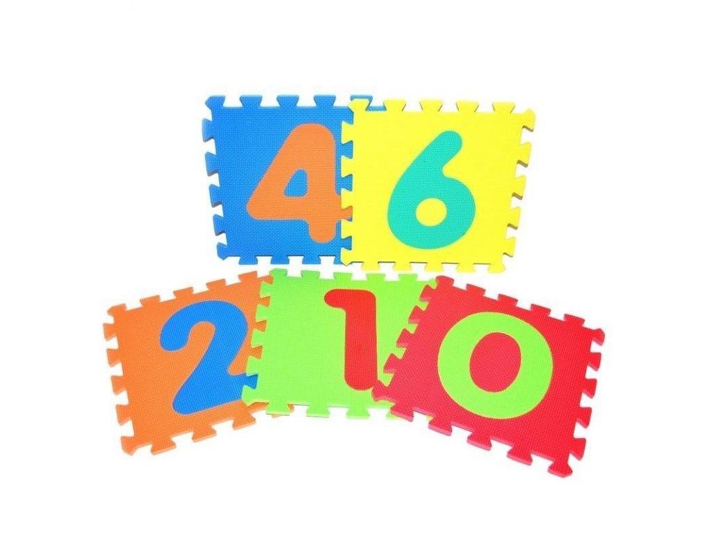Měkké puzzle bloky - číslice 30 cm