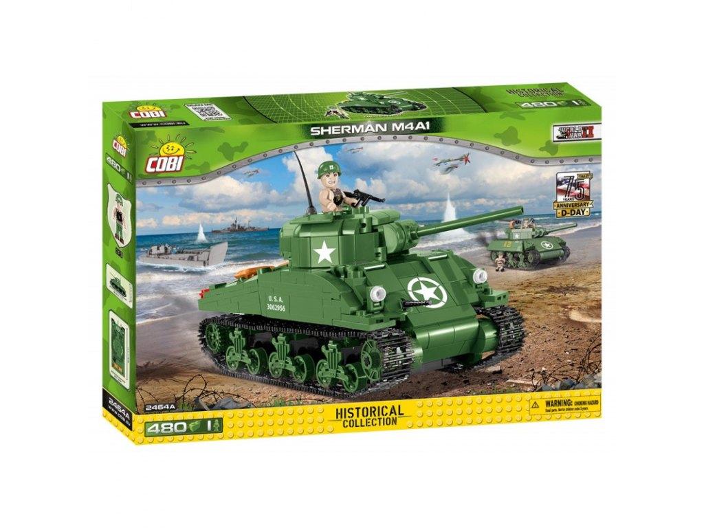 stavebnice II WW M4A1 Sherman, 480 k, 1 f