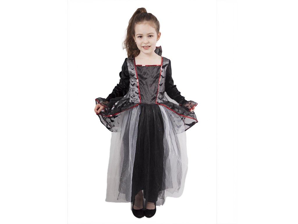 Dětský kostým s netopýry Čarodějnice/Halloween (M)