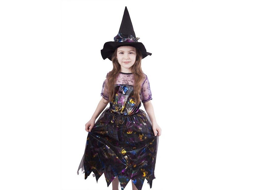 Dětský kostým Čarodějnice barevná (S)