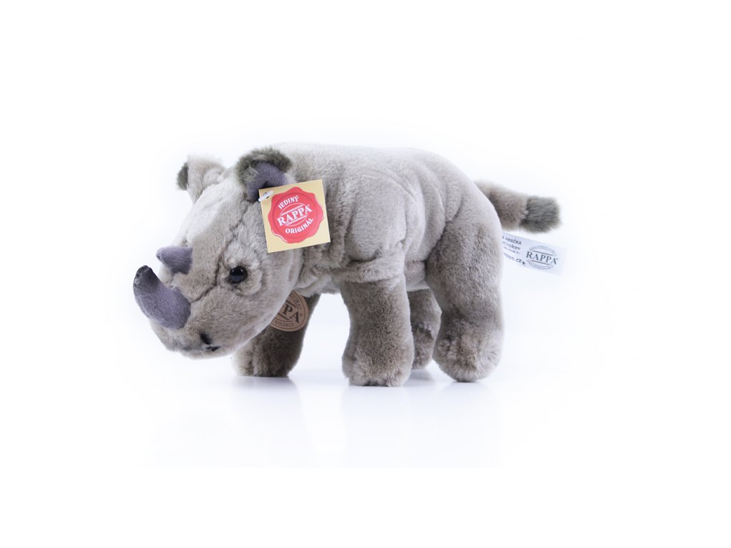 plyšový nosorožec stojící, 23 cm
