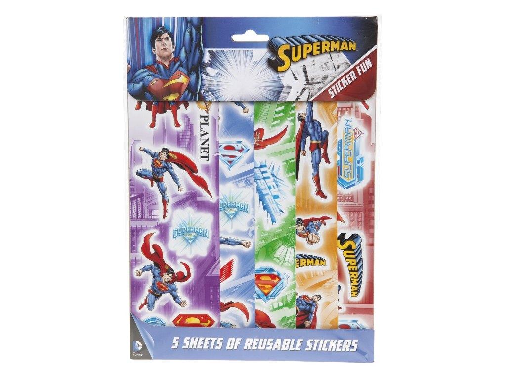 Samolepky Superman 5 listů/archů