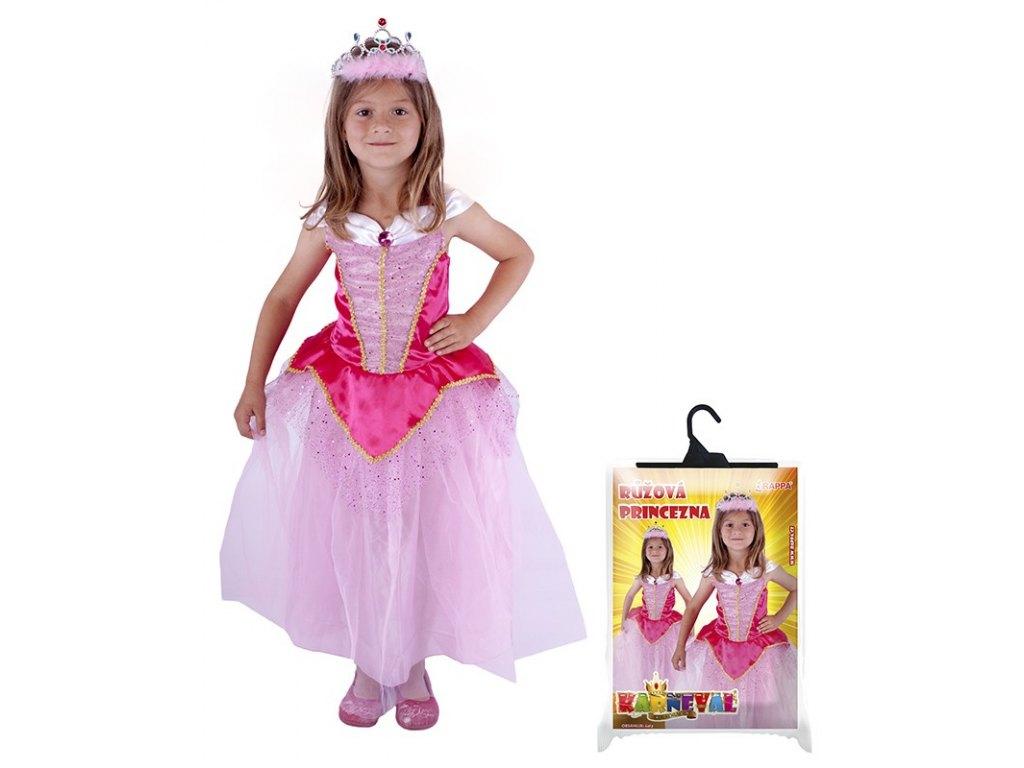 Dětský kostým Princezna růžová (M)