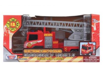 Kovové hasičské auto na baterie