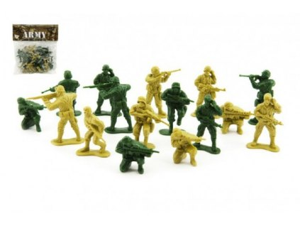 Sada vojáci 2 barvy plast CZ design na kartě
