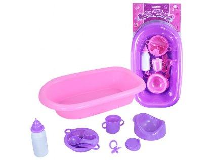 vana pro panenky s příslušenstvím fialová