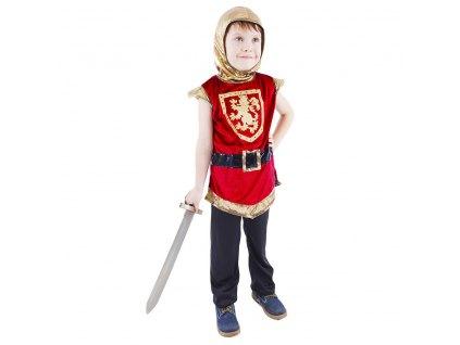 Dětský kostým rytíř s erbem, červený (M)