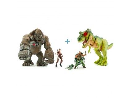 SET Jurassic Clash - Dinosaurus a Gorila
