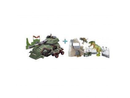 MEGA SET tanku a T-Rexe s pevností