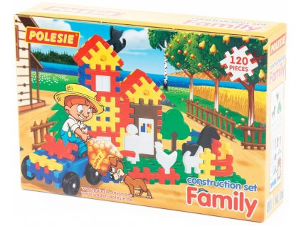 Stavebnice plastová FAMILY 120 ks