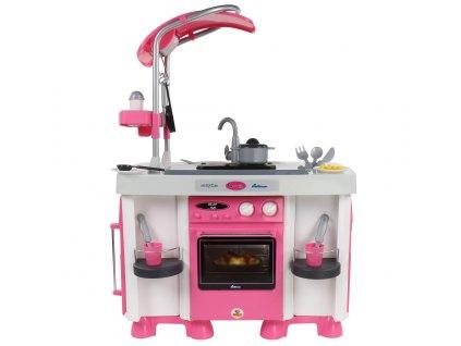 Růžová moderní kuchyňka