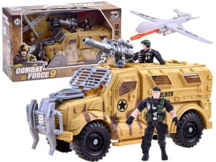 Vojenská sada s obrněným transportérem