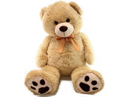 Plyšový medvěd velký 100 cm s mašlí