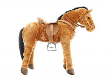 Plyšový kůň se sedlem 100 kg nosnost
