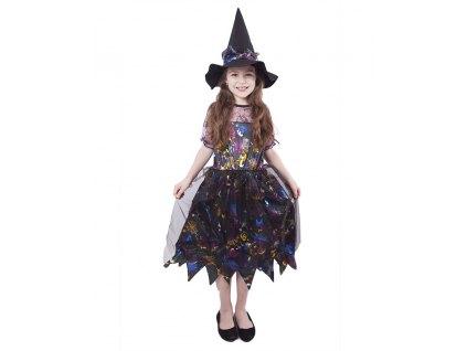 Dětský kostým čarodějnice barevná (M), Čarodějnice / Halloween