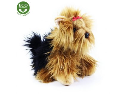 plyšový pes jorkšír sedící, 27 cm, ECO-FRIENDLY