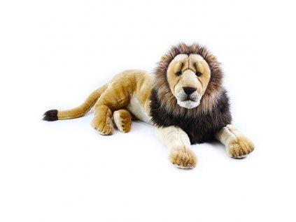 Velký plyšový lev ležící, 92 cm