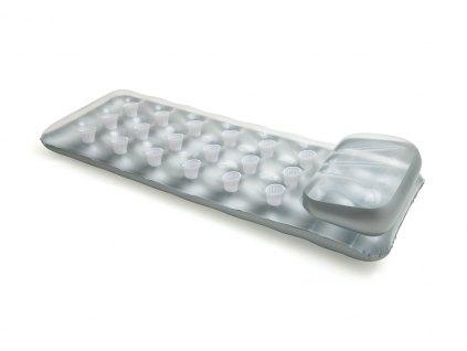 Nafukovací lehátko stříbrné, 188 x 71 cm