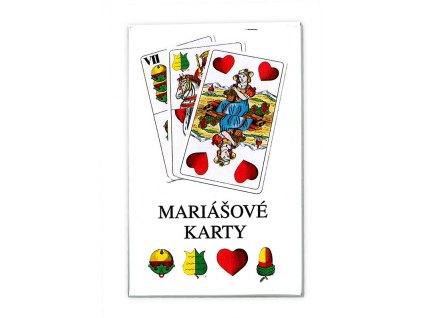 karty mariášové, dvouhlavé, pap.krabička