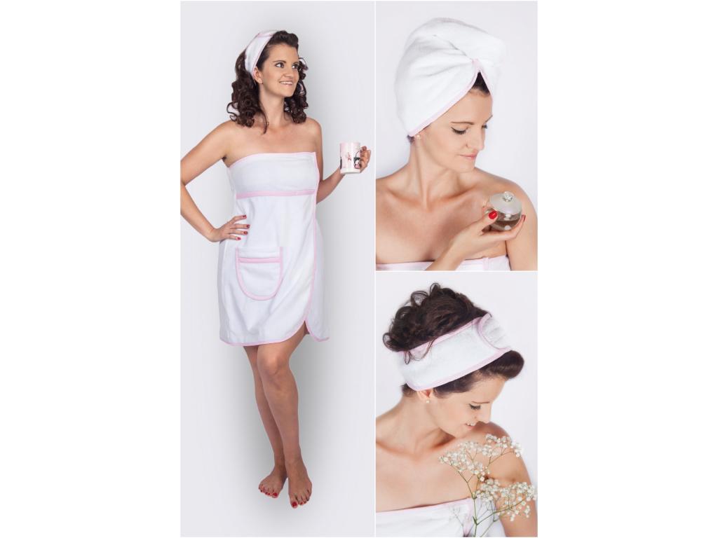 Něžný růžový dárkový wellness set pro ženy