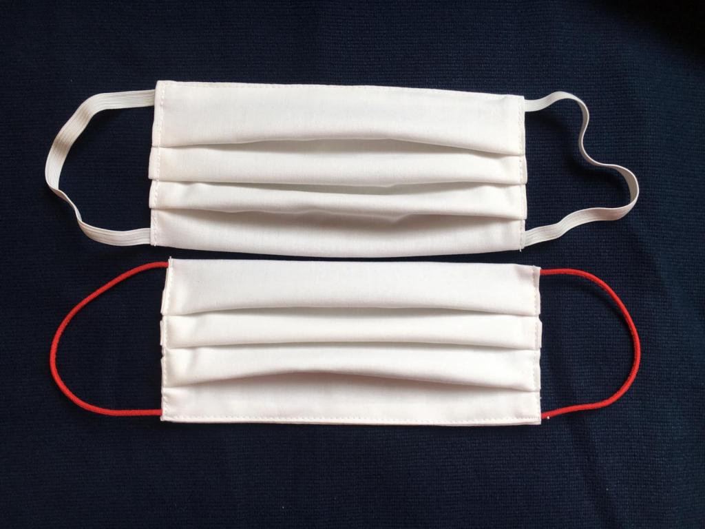 bavlněná rouška pro opakované použití s gumičkami