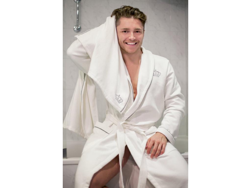 Bílý koupelnový set ručníku a osušky Royal in White – Silver Edition