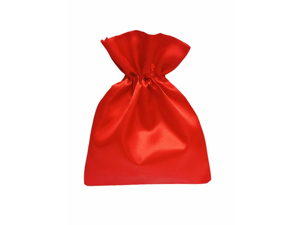 Malý červený saténový dárkový sáček
