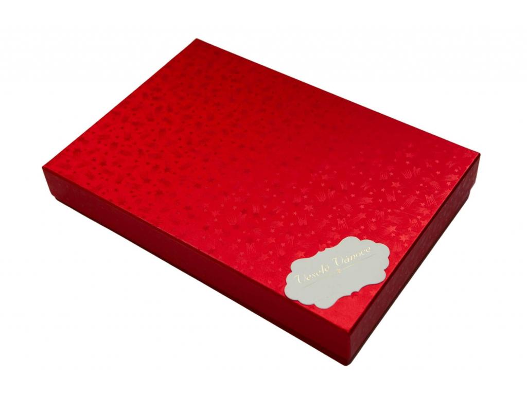 Červená dárková krabice na doplňky
