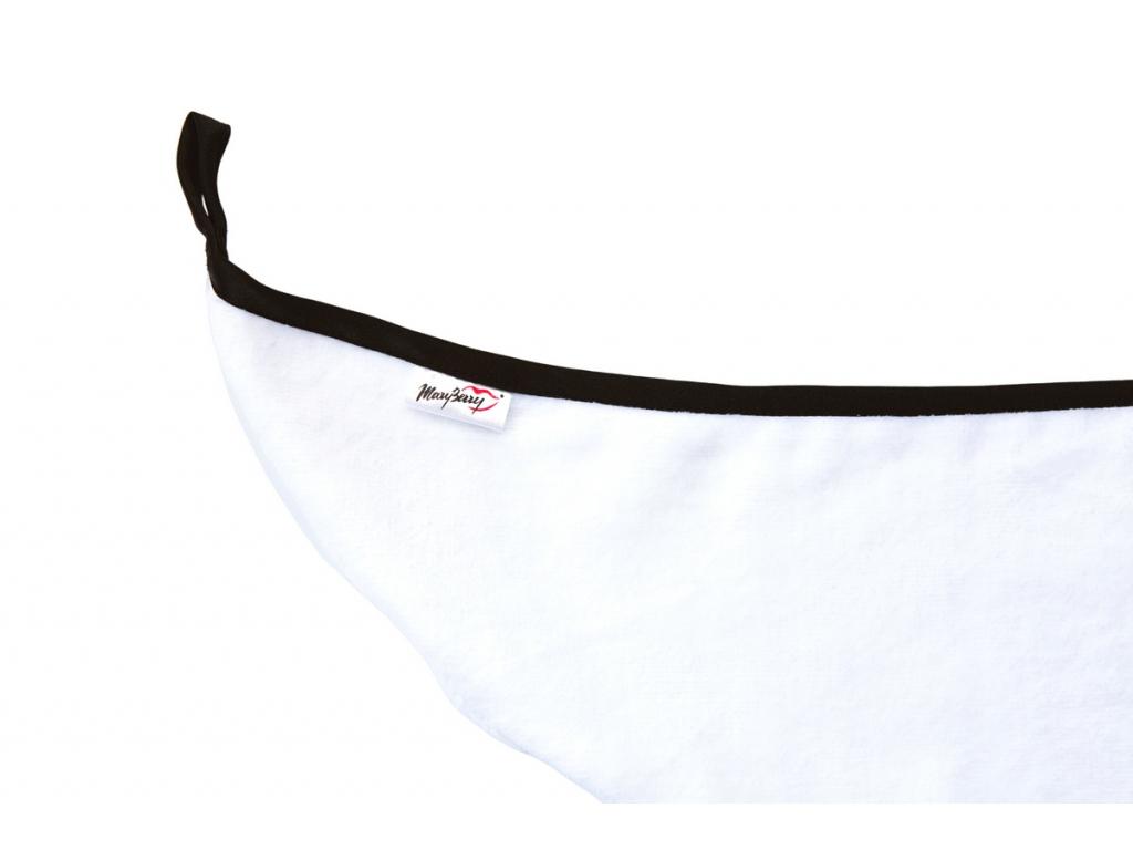 Černo-bílý bavlněný turban od MaryBerry