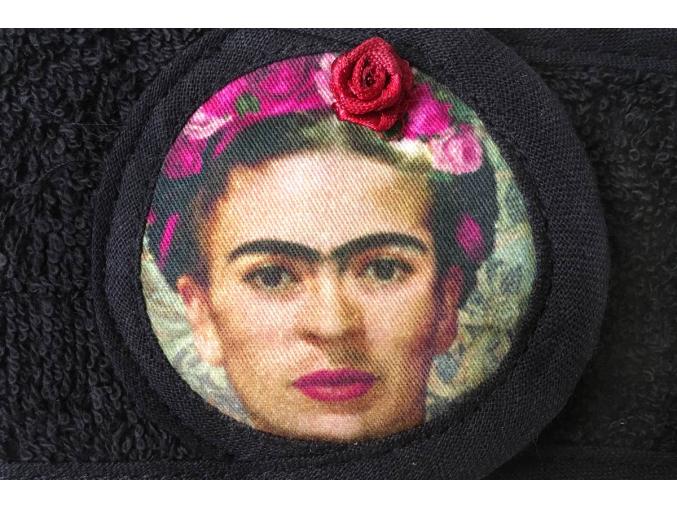 Frida Kahlo - originální černá kosmetická čelenka od MaryBerry