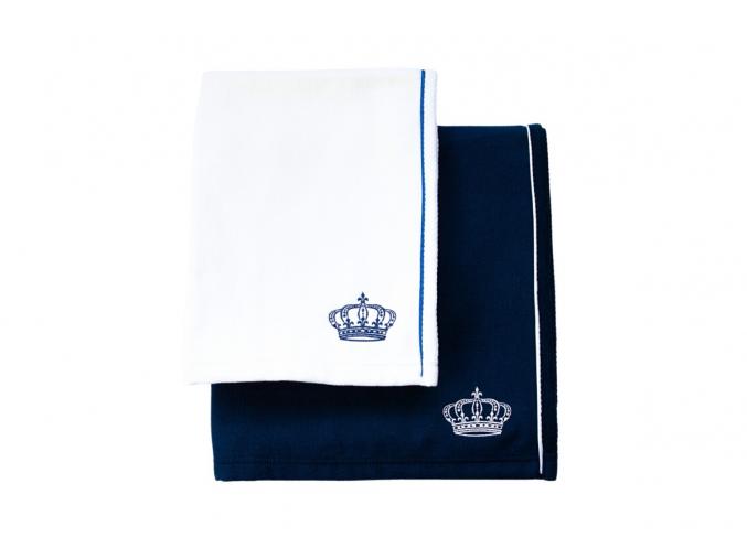 Modrá osuška a bílý ručník - koupelnový set Royal in Blue