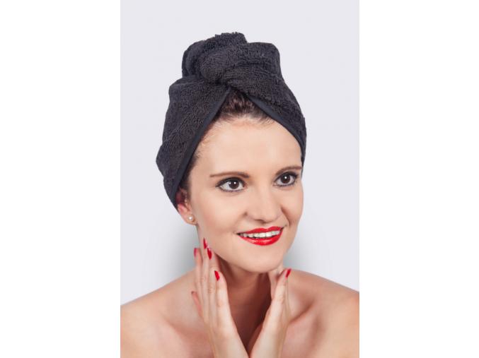 Oriental Beauty: Elegantní černý turban na vlasy od MaryBerry