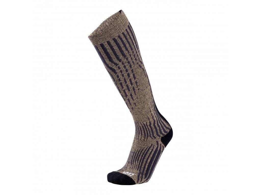 UYN MAN SKI CASHMERE SHINY SOCKS (Farba Celebrity Silver, Veľkosť 45/47)
