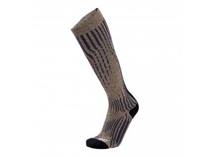 UYN LADY SKI CASHMERE SHINY SOCKS (Farba Celebrity Silver, Veľkosť 41/42)