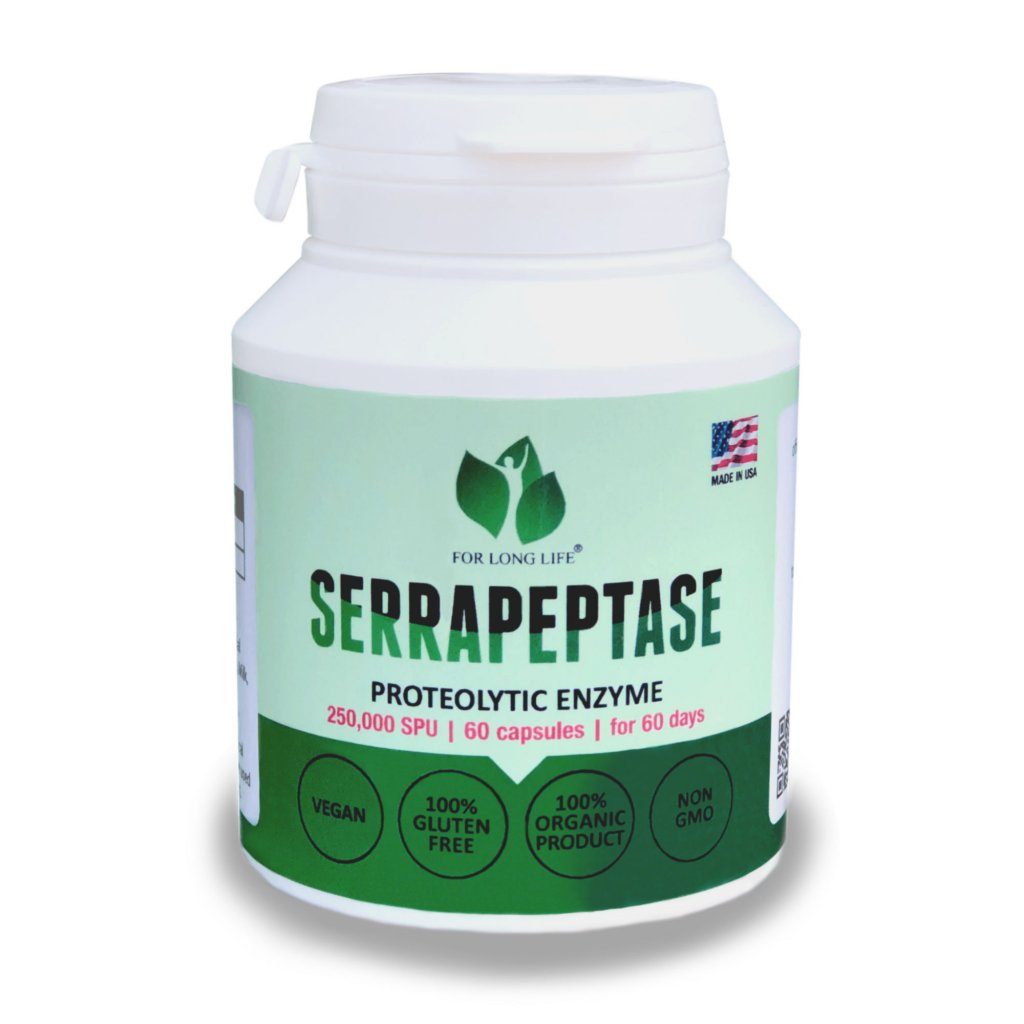 serrapeptase nutraceutical dietary supplement for healthy aging AM