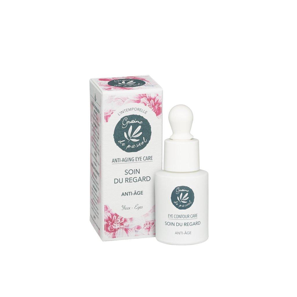 Francouzská přírodní kosmetika Oční krém proti stárnutí pleti, 15 ml