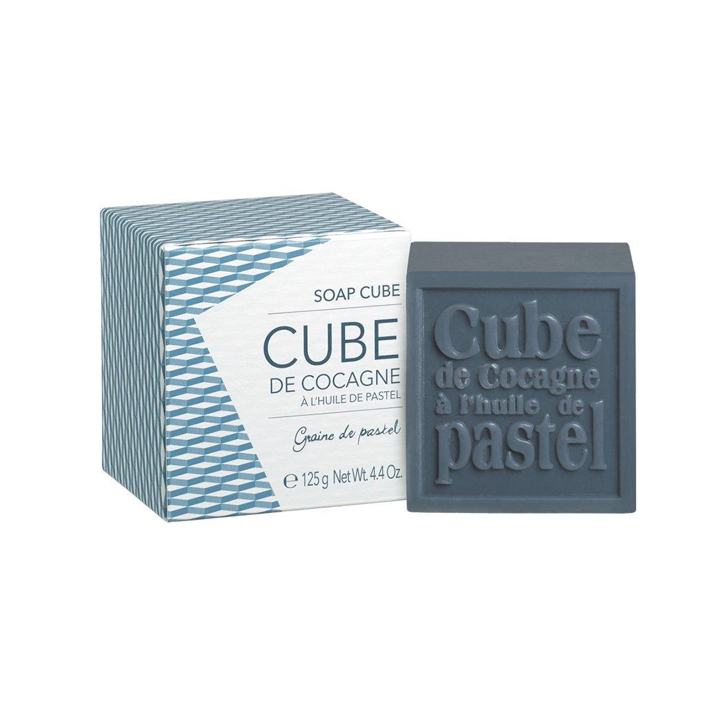 Francouzská přírodní kosmetika Soap cube in carboard box Bleu de Reine