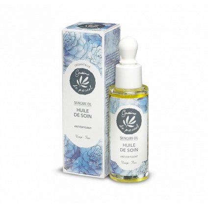 Francouzská přírodní kosmetika Antioxidační pečujicí olej na obličej