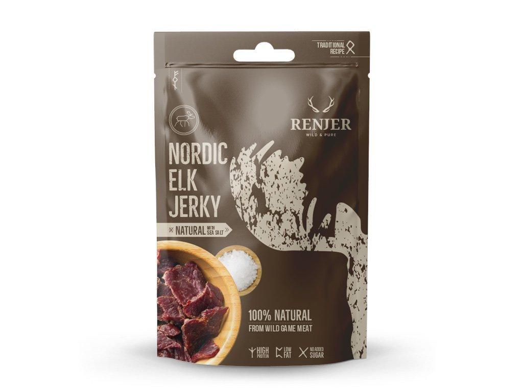 Renjer - Elk Jerky with Sea Salt 25g