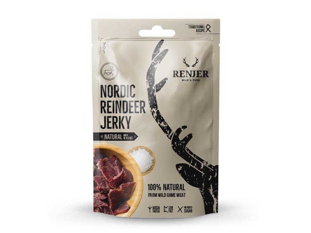 Renjer - Reindeer Jerky with Sea Salt 25g