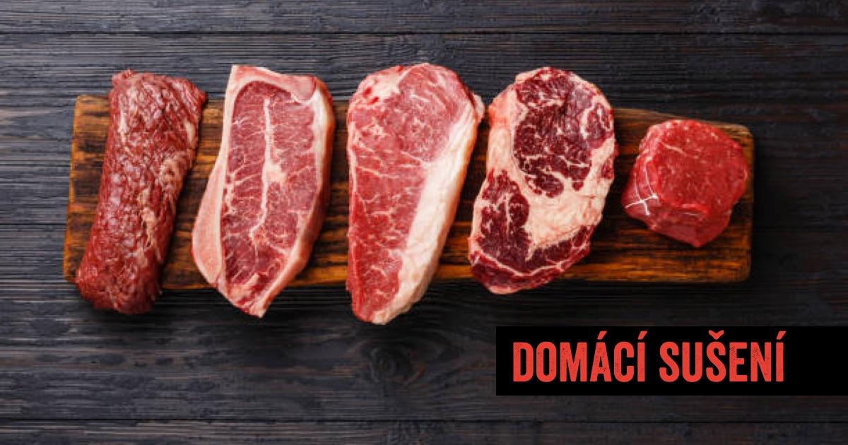 17 druhů masa, které lze použít k přípravě sušeného masa