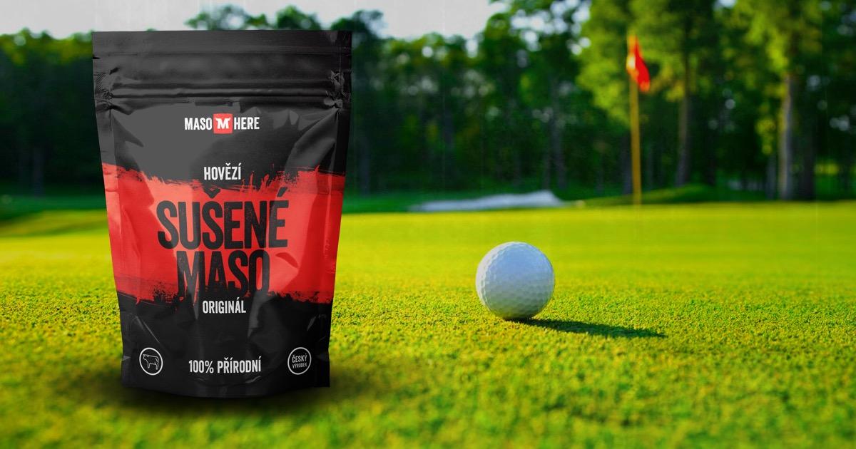 Hodí se sušené maso na golf?
