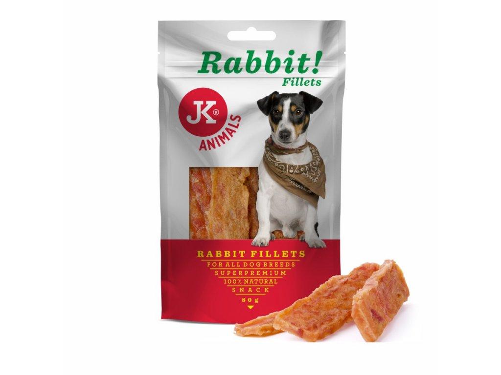44958 jk superpremium meat snack dog rabbit fillet kralici filety 80 g 1