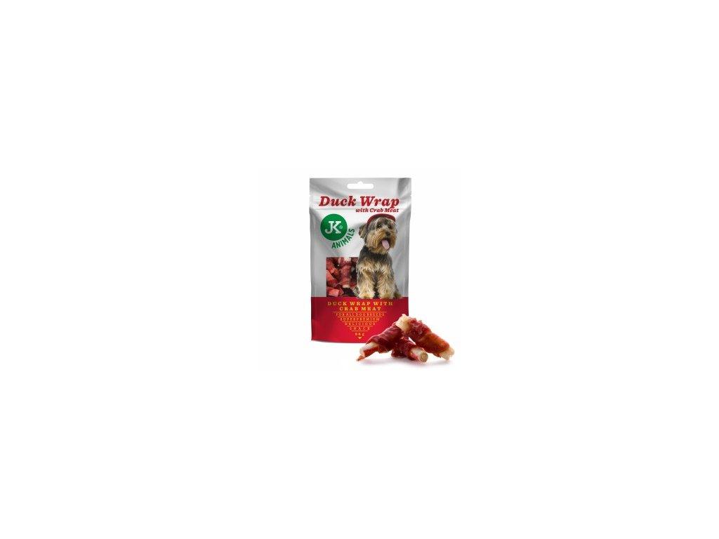 44975 jk superpremium meat snack dog duck wrap crab 80 g 0