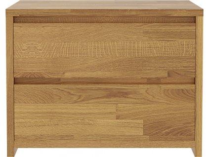 Noční stolek Massivo 2s, dub, masiv